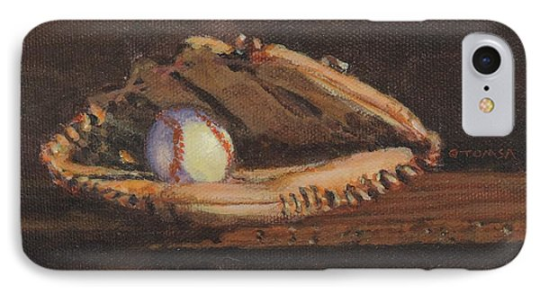 Ball And Glove IPhone Case by Bill Tomsa
