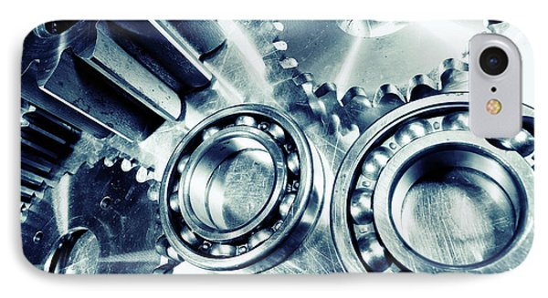 IPhone Case featuring the photograph Ball-bearings And Cogs In Titanium by Christian Lagereek