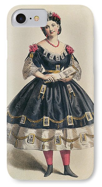 Ball Gown Decorated With Photographic Cartes De Visite  IPhone Case by French School