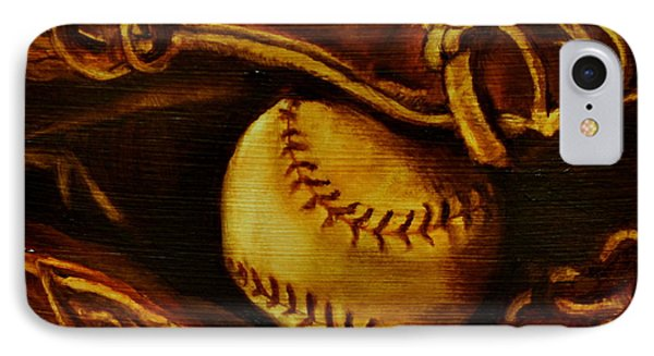 Ball In Glove 2 IPhone Case by Lindsay Frost