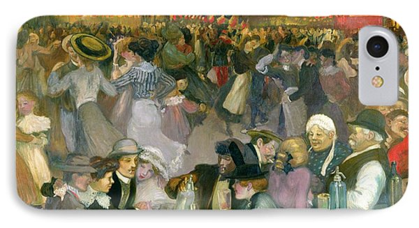 Ball On The 14th July IPhone Case by Theophile Alexandre Steinlen