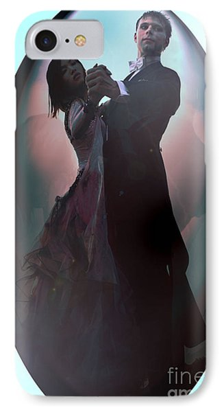 Ball Room Dancer IPhone Case by Tbone Oliver