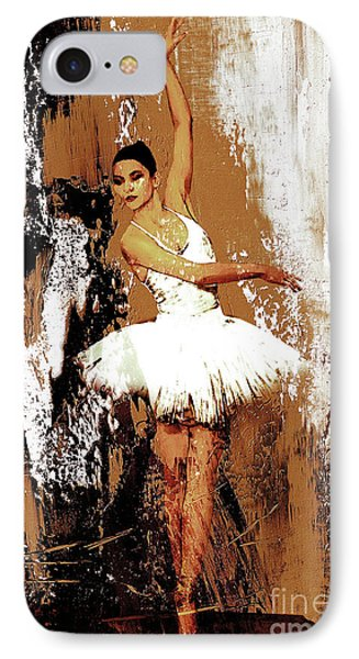 Ballerina Dance 093 IPhone Case by Gull G