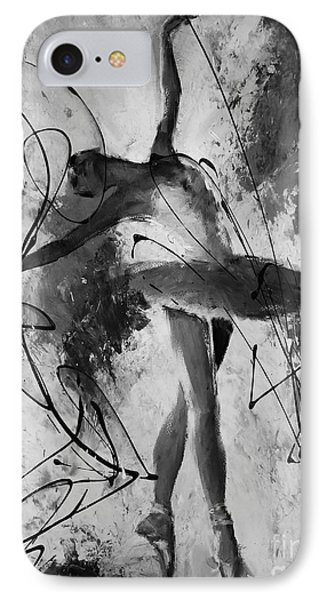 Ballerina Dance Black And White  IPhone Case by Gull G