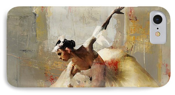 Ballerina Dance On The Floor 01 IPhone Case by Gull G