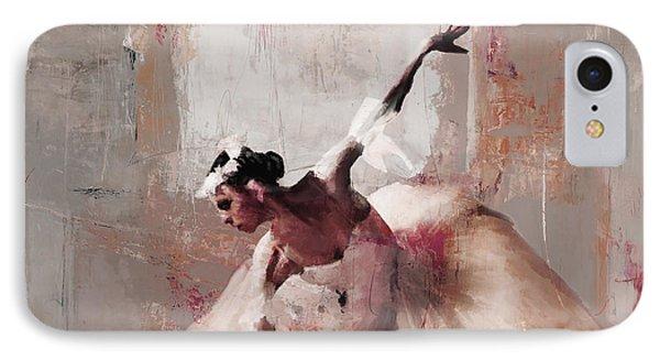 Ballerina Dance On The Floor 02 IPhone Case by Gull G