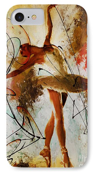 Ballerina Dance Original Painting 01 IPhone Case by Gull G