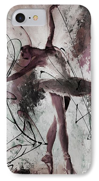 Ballerina Dance Painting 0032 IPhone Case by Gull G
