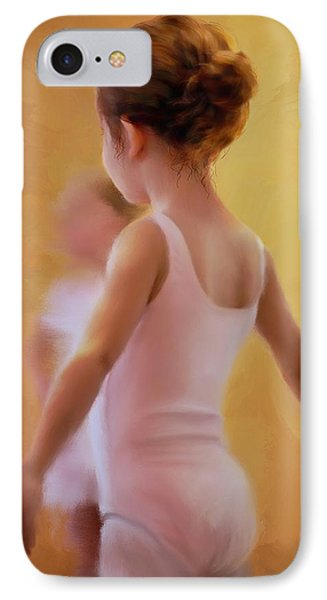 Ballerina In Pink Phone Case by Colleen Taylor