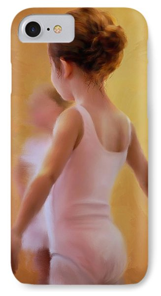 Ballerina In Pink IPhone Case by Colleen Taylor