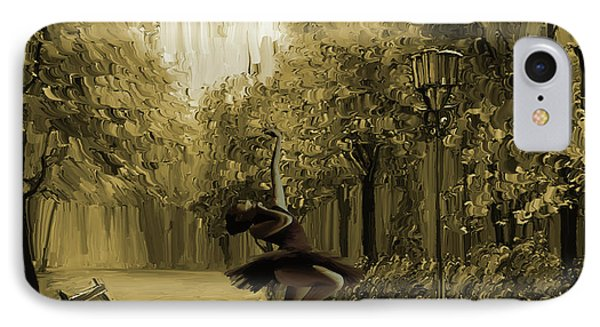 Ballerina In The Park 02 IPhone Case by Gull G