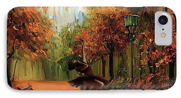Ballerina In The Park  IPhone Case by Gull G