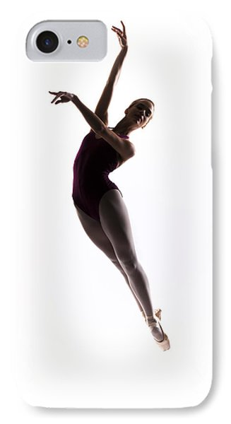 Ballerina Jump Phone Case by Steve Williams