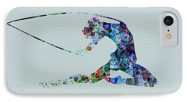 Ballerina On The Stage IPhone Case by Naxart Studio