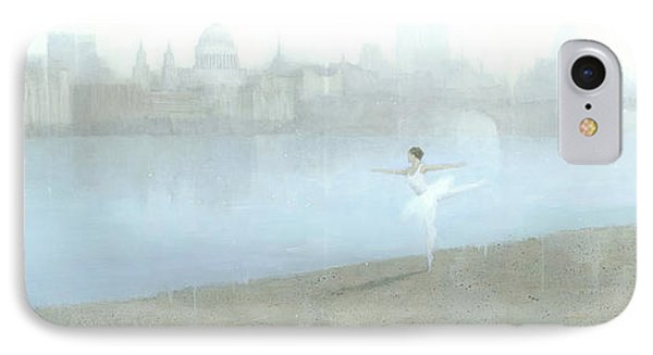Ballerina On The Thames IPhone Case by Steve Mitchell
