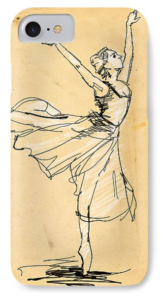 Ballerina Study IPhone Case by H James Hoff