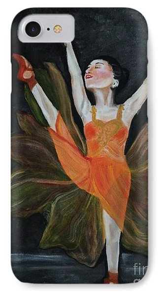 IPhone Case featuring the painting Ballet Dancer 1 by Brindha Naveen