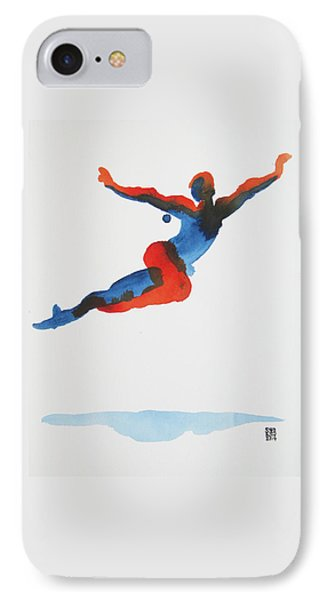 IPhone Case featuring the painting Ballet Dancer 1 Flying by Shungaboy X