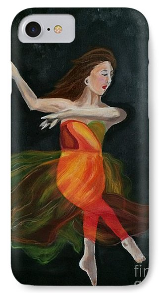 IPhone Case featuring the painting Ballet Dancer 2 by Brindha Naveen