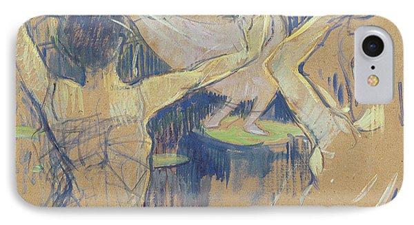 Ballet De Papa Chrysantheme, 1892 IPhone Case by Henri de Toulouse-Lautrec