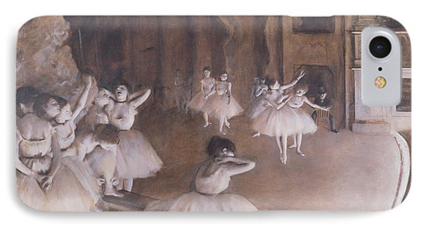 Ballet Rehearsal On The Stage Phone Case by Edgar Degas