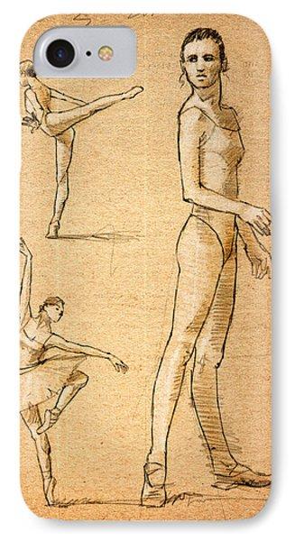 Ballet Studies IPhone Case by H James Hoff