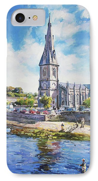 Ballina Cathedral On River Moy IPhone Case by Conor McGuire