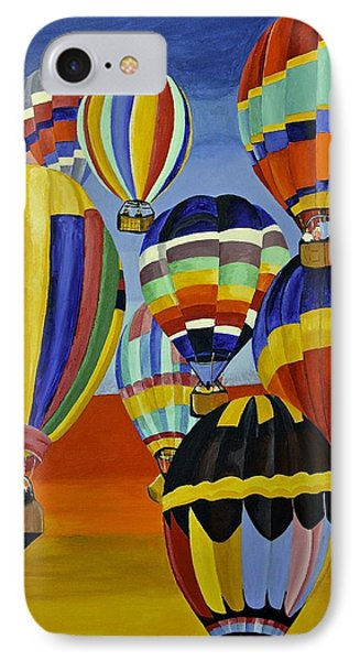 IPhone Case featuring the painting Balloon Expedition by Donna Blossom