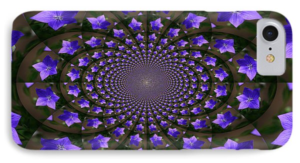 Balloon Flower Kaleidoscope Phone Case by Teresa Mucha