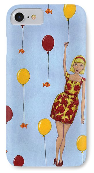 Balloon Girl Phone Case by Christy Beckwith
