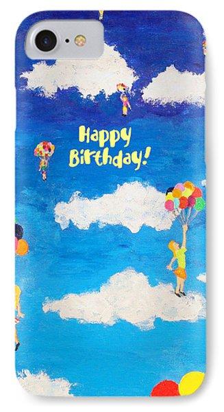 Balloon Girls Birthday Greeting Card IPhone Case