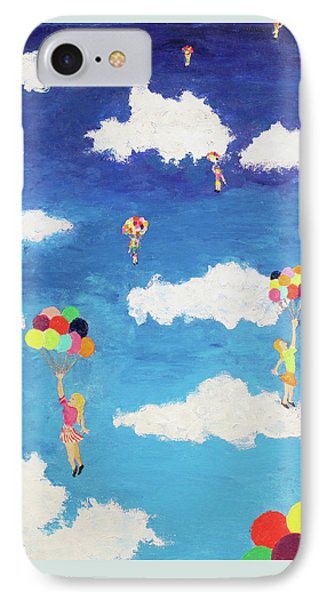 IPhone Case featuring the painting Balloon Girls by Thomas Blood