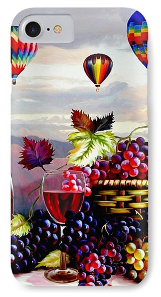 Balloon Ride At Dawn IPhone Case by Ron Chambers
