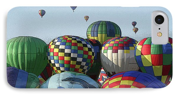 IPhone Case featuring the photograph Balloon Traffic Jam by Marie Leslie