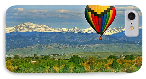 Ballooning Over The Rockies Phone Case by Scott Mahon