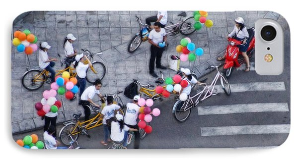 Balloons And Bikes IPhone Case by Cameron Wood