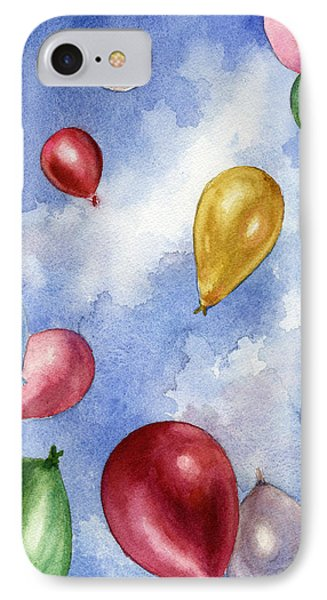 IPhone Case featuring the painting Balloons In Flight by Anne Gifford