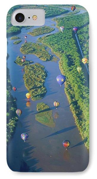 Balloons Over The Rio Grande Phone Case by Alan Toepfer