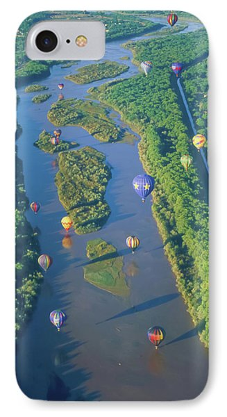 Balloons Over The Rio Grande IPhone Case by Alan Toepfer