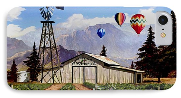Balloons Over The Winery 1 IPhone Case by Ron Chambers