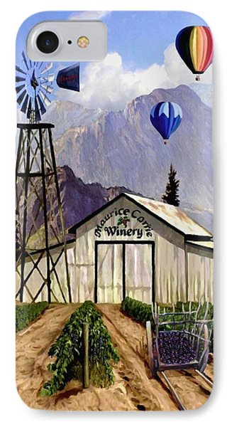 Balloons Over The Winery IPhone Case by Ron Chambers