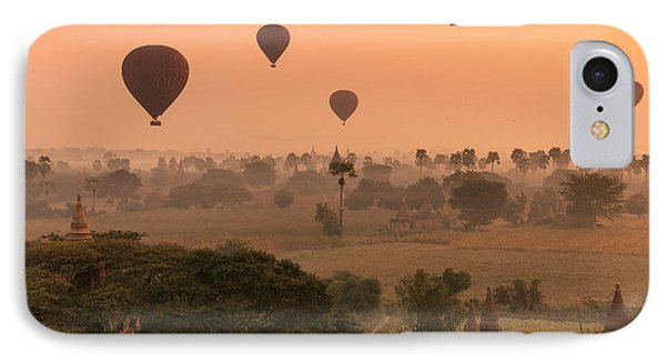 Balloons Sky Phone Case by Marji Lang