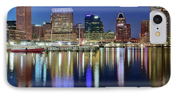 Baltimore Blue Hour IPhone Case by Frozen in Time Fine Art Photography
