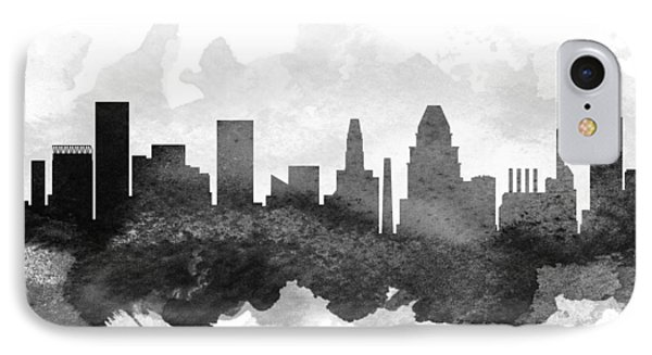 Baltimore Cityscape 11 IPhone Case by Aged Pixel