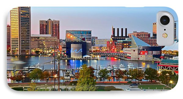 Baltimore From The Hill IPhone Case by Frozen in Time Fine Art Photography