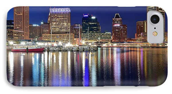 Baltimore Harbor Lights IPhone Case by Frozen in Time Fine Art Photography