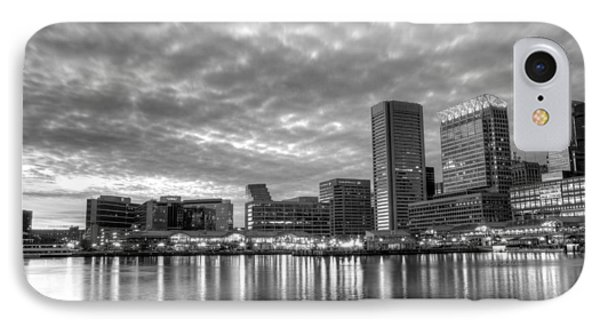 Baltimore In Black And White Phone Case by JC Findley
