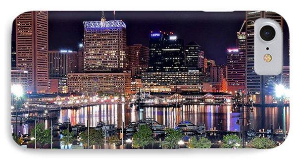 Baltimore Night Lights IPhone Case by Frozen in Time Fine Art Photography