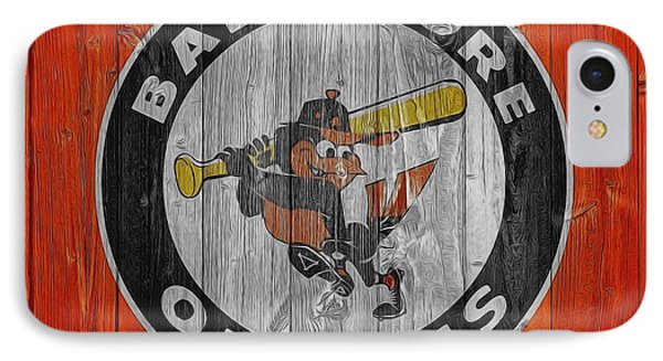 Baltimore Orioles Graphic Barn Door IPhone Case by Dan Sproul