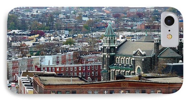 Baltimore Rooftops Phone Case by Carol Groenen